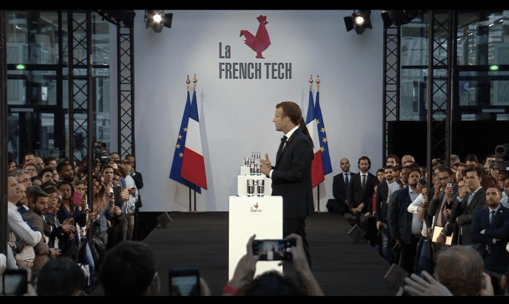 Président Macron à la Station F