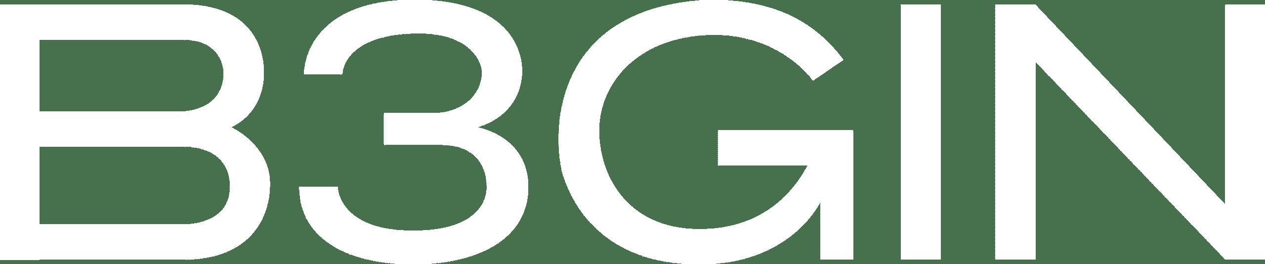 B3GIN - Logo - Blanc